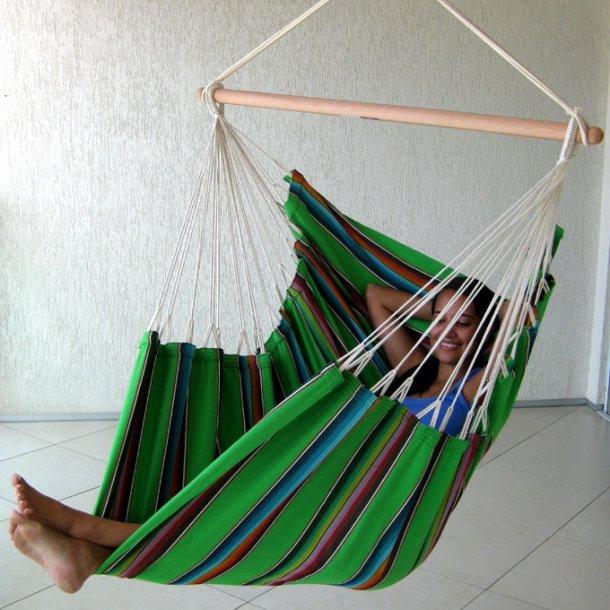 Hængekøjestol i farverigt Mexico grønt stof