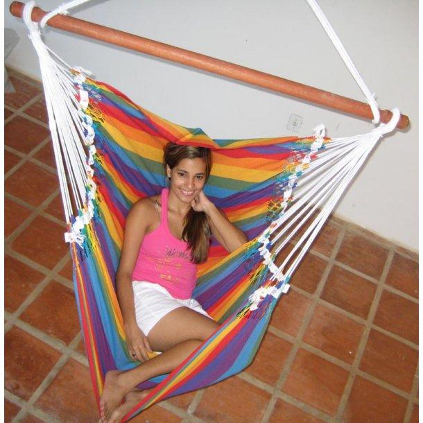 Hængestol i friske striber