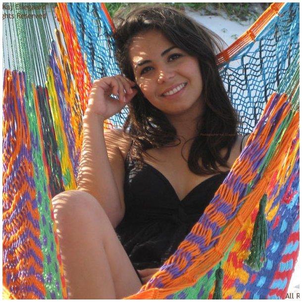 Mexicansk hængekøjestol i farvemix
