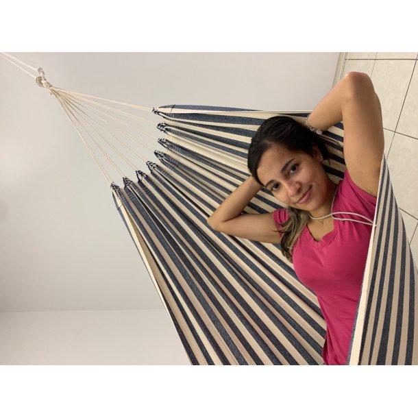 Prainha Tour Hængekøje   Maritim stribet textil hængekøje