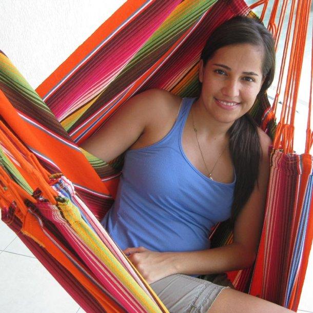 Chic Hængekøjestol i farverigt stof - Mexico Orange