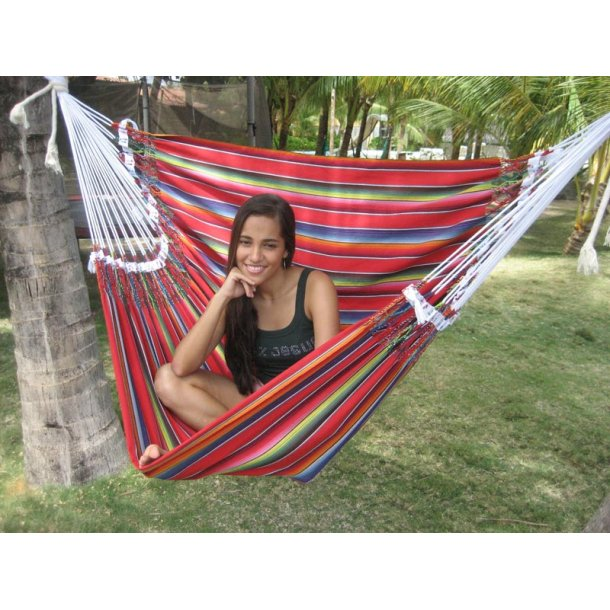 Mexican siddehængekøje i bomuld