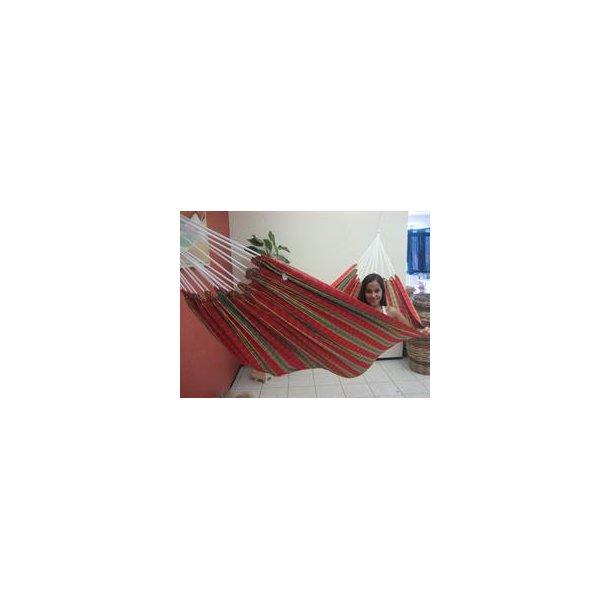Textil Hængekøje i rødt ternet stof