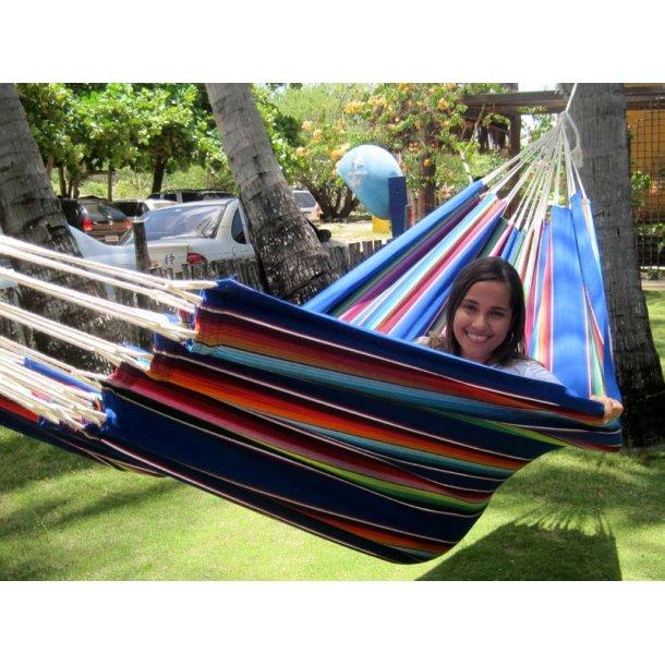 INKA stofhængekøje højkvalitets materiale til Leg og Powernap. Design Mexico Blå