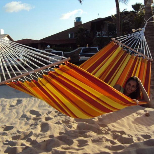 Tequila Sunrise Hængekøje med 80 cm tværpinde