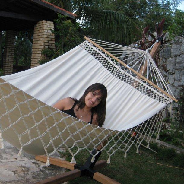 Romantica hængekøje med 140 cm brede rundstokke
